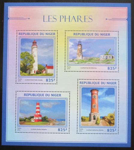 Poštovní známky Niger 2016 Majáky Mi# 4442-45 Kat 13€