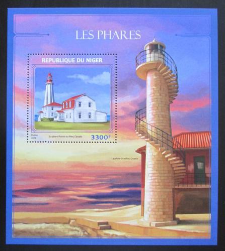 Poštovní známka Niger 2016 Majáky Mi# Block 593 Kat 13€