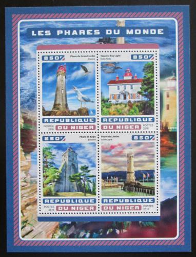 Poštovní známky Niger 2016 Majáky Mi# 4662-65 Kat 13€