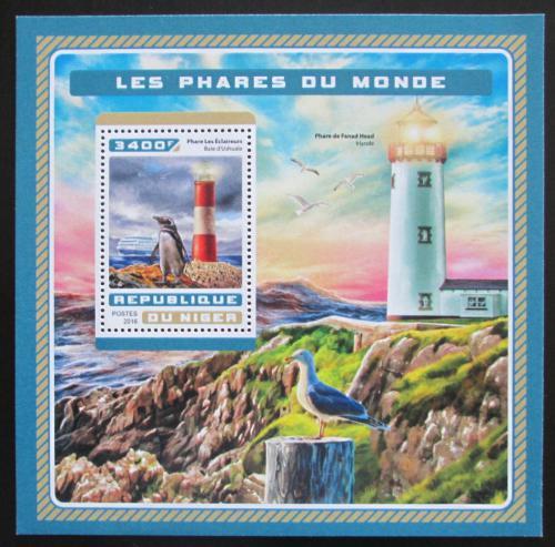 Poštovní známka Niger 2016 Majáky Mi# Block 637 Kat 13€