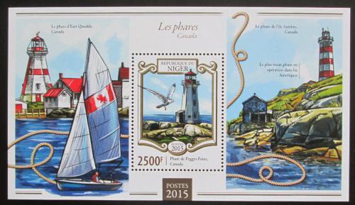 Poštovní známka Niger 2015 Majáky Mi# Block 405 Kat 10€