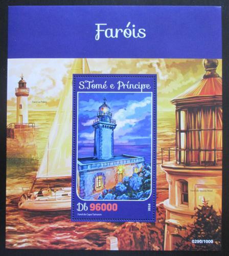 Poštovní známka Svatý Tomáš 2016 Majáky Mi# Block 1181 Kat 10€
