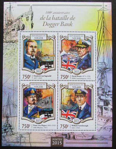 Poštovní známky Niger 2015 Bitva u Dogger Banku Mi# 3340-43 Kat 12€