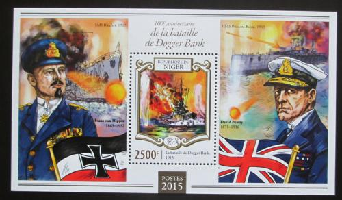 Poštovní známka Niger 2015 Bitva u Dogger Banku Mi# Block 412 Kat 10€