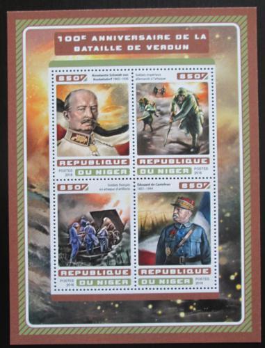 Poštovní známky Niger 2016 Bitva u Verdunu Mi# 4642-45 Kat 13€