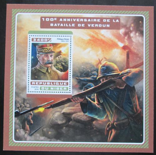 Poštovní známka Niger 2016 Bitva u Verdunu Mi# Block 633 Kat 13€