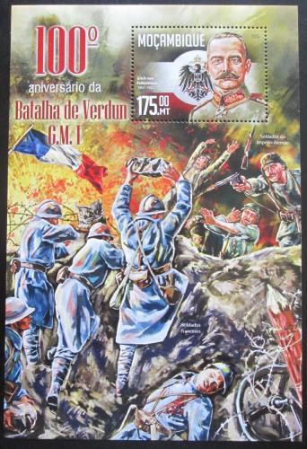 Poštovní známka Mosambik 2016 Bitva u Verdunu Mi# Block 1142 Kat 10€