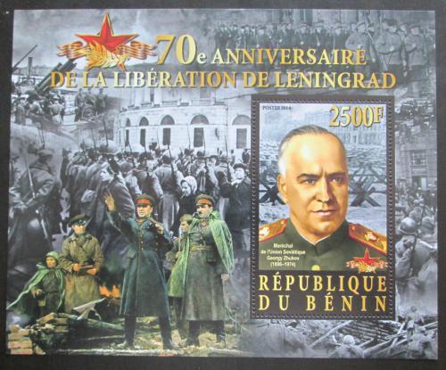 Poštovní známka Benin 2014 Osvobození Leningradu, Maršál Žukov Mi# N/N