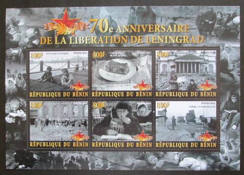 Poštovní známky Benin 2014 Osvobození Leningradu, 70. výroèí Mi# N/N