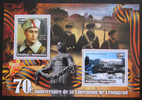 Poštovní známky Madagaskar 2014 Osvobození Leningradu, Konstantin Karitski Mi# N/N