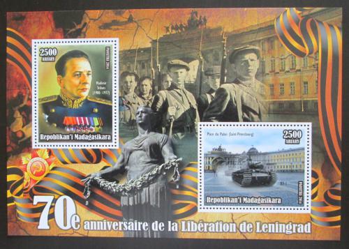 Poštovní známka Madagaskar 2014 Osvobození Leningradu, Admirál Tribuc Mi# N/N