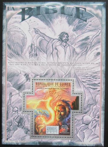 Poštovní známka Guinea 2011 Dìjiny Bible Mi# Block 1975 Kat 16€