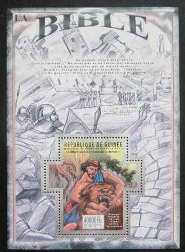 Poštovní známka Guinea 2011 Dìjiny Bible Mi# Block 1976 Kat 16€