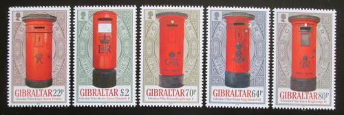 Poštovní známky Gibraltar 2016 Staré poštovní schránky Mi# 1751-55 Kat 11€