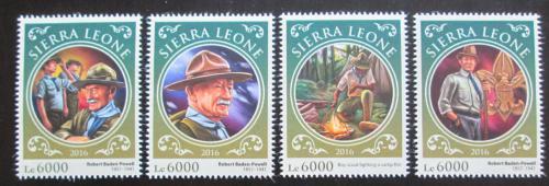 Poštovní známky Sierra Leone 2016 Robert Baden-Powell Mi# 6963-66 Kat 11€