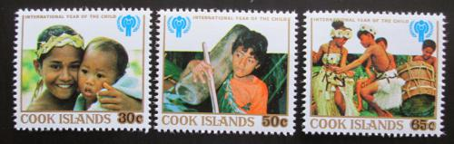 Poštovní známky Cookovy ostrovy 1979 Mezinárodní rok dìtí Mi# 618-20