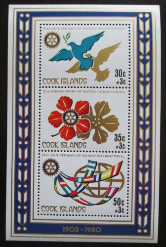 Poštovní známky Cookovy ostrovy 1980 Rotary Intl., 75. výroèí Mi# Block 100
