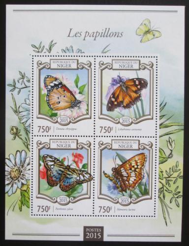 Poštovní známky Niger 2015 Motýli Mi# 3285-88 Kat 12€