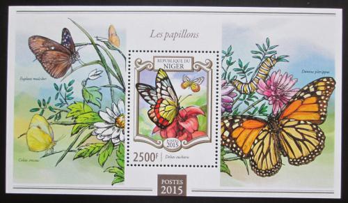 Poštovní známka Niger 2015 Motýli Mi# Block 401 Kat 10€