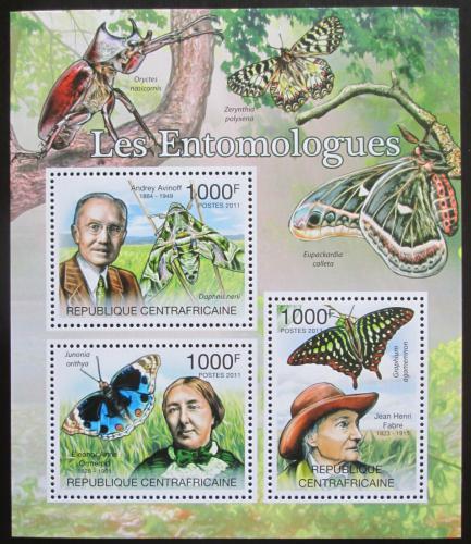Poštovní známky SAR 2011 Motýli a entomologové Mi# 3120-22 Kat 12€