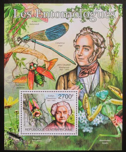 Poštovní známka SAR 2011 Motýli a entomologové Mi# Block 738 Kat 11€