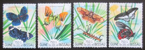 Poštovní známky Guinea-Bissau 2015 Motýli Mi# 7673-76 Kat 12€