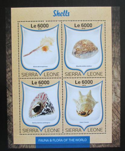 Poštovní známky Sierra Leone 2016 Mušle Mi# 7528-31 Kat 11€
