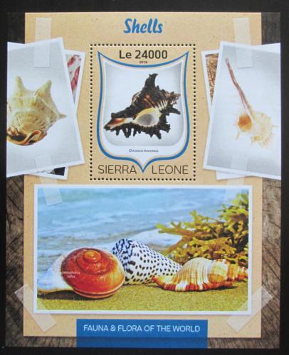 Poštovní známka Sierra Leone 2016 Mušle Mi# Block 138 Kat 11€