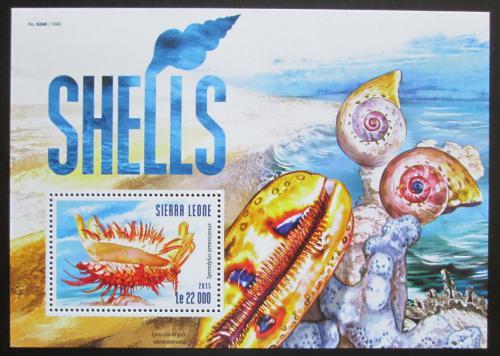 Poštovní známka Sierra Leone 2015 Mušle Mi# Block 797 Kat 10€