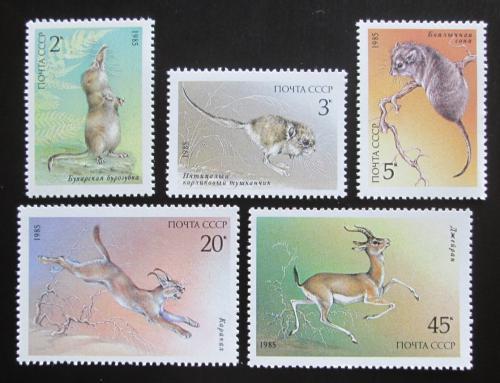 Poštovní známky SSSR 1985 Chránìná zvíøata Mi# 5537-41