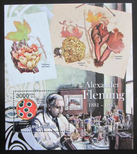 Poštovní známka Guinea-Bissau 2012 Alexander Fleming Mi# Block 1082 Kat 12€
