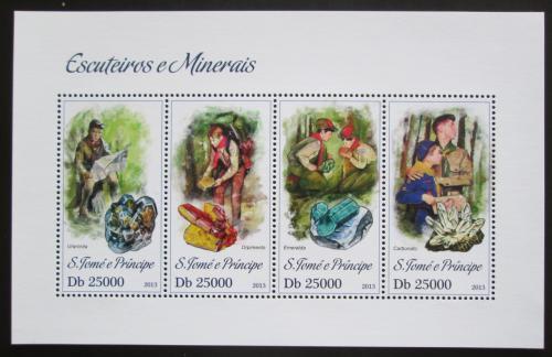 Poštovní známky Svatý Tomáš 2013 Skauti a minerály Mi# 5166-69 Kat 10€