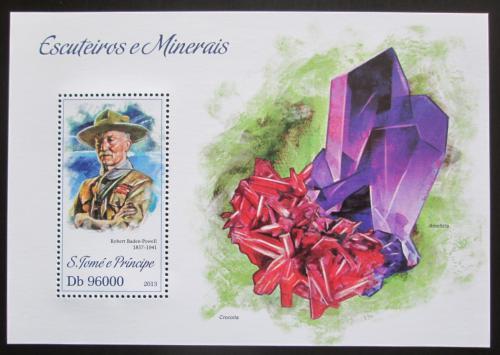 Poštovní známka Svatý Tomáš 2013 Skauti a minerály Mi# Block 893 Kat 10€