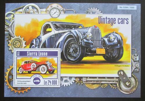 Poštovní známka Sierra Leone 2015 Historické automobily Mi# Block 782 Kat 11€