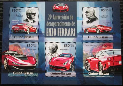 Poštovní známky Guinea-Bissau 2013 Ferrari Mi# 6772-76 Kat 17€