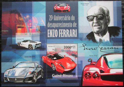 Poštovní známka Guinea-Bissau 2013 Ferrari Mi# Block 1188 Kat 8€
