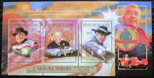 Poštovní známky Guinea 2012 Carroll Shelby Mi# 9356-58 Kat 16€