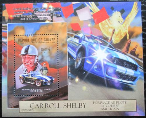 Poštovní známka Guinea 2012 Carroll Shelby Mi# Block 2128 Kat 16€