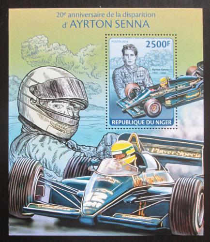 Poštovní známka Niger 2014 Ayrton Senna, Formule 1 Mi# Block 284 Kat 10€