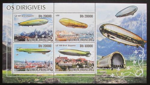 Poštovní známky Svatý Tomáš 2008 Vzducholodì Mi# 3601-04 Kat 12€