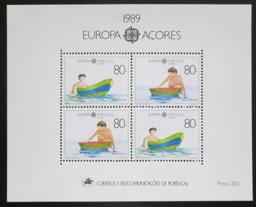 Poštovní známky Azory 1989 Evropa CEPT, dìtské hry Mi# Block 10 Kat 12€