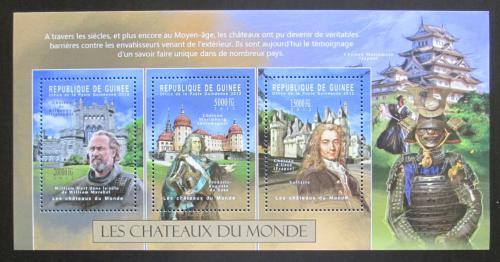Poštovní známky Guinea 2012 Hrady Mi# 9304-06 Kat 16€