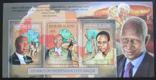 Poštovní známky Guinea 2012 Bojovníci za svobodnou Afriku Mi# 9320-22 Kat 16€