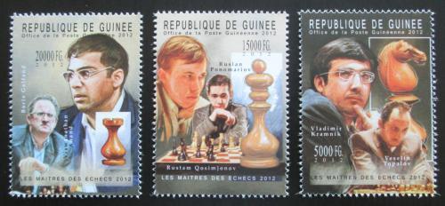 Poštovní známky Guinea 2012 Slavní šachisti Mi# 9316-18 Kat 16€
