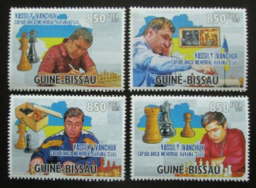 Poštovní známky Guinea-Bissau 2010 Vasyl Ivanèuk, šachy Mi# 4905-08 Kat 14€