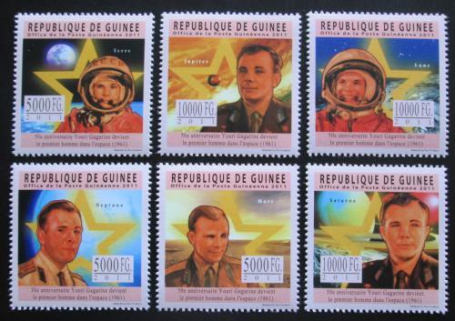 Poštovní známky Guinea 2011 Jurij Gagarin Mi# 8460-65 Kat 18€