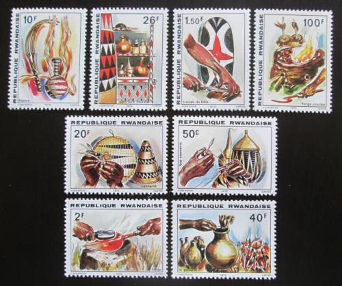 Poštovní známky Rwanda 1979 Lidové umìní Mi# 1002-09 Kat 8.50€