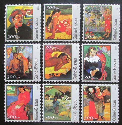 Poštovní známky Guinea-Bissau 2001 Umìní, Paul Gauguin Mi# 1642-50 Kat 11€