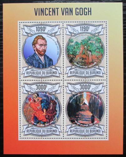 Poštovní známky Burundi 2013 Umìní, Vincent van Gogh Mi# 3083-86 Bogen Kat 10€