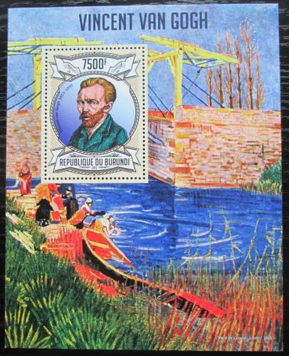Poštovní známka Burundi 2013 Umìní, Vincent van Gogh Mi# Block 341 Kat 9€
